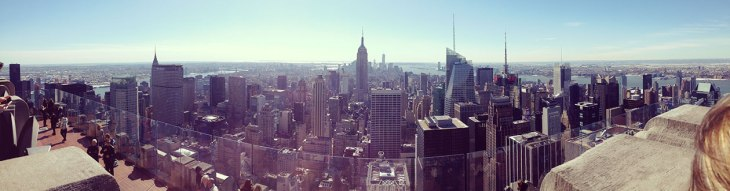 the skyline from the top of the rockefeller