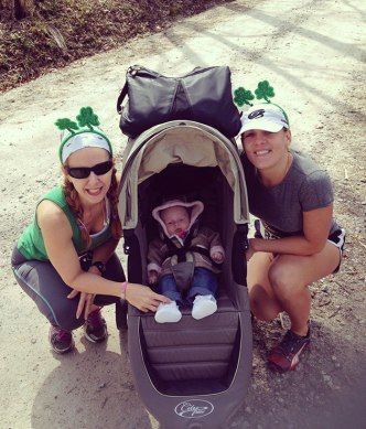 st paddy's race.. mama & auntie representing