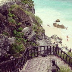 secluded beach at tulum