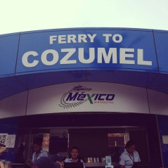 what it says... ferry to cozumel