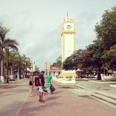 town square in cozumel