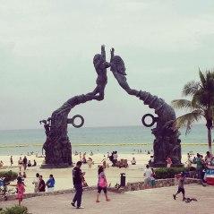 on playa del carmen beach – quaint, but interesting