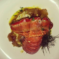 crayfish with mango chutney
